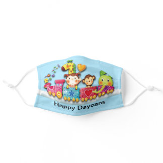 Cute Preschool Teacher Daycare with Company Name Adult Cloth Face Mask