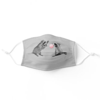 Cute Raccoon Bubble Gum Funny Animal Adult Cloth Face Mask