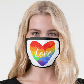 Cute Rainbow Watercolor Abstract Colorful Artsy Face Mask