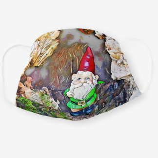 Cute red hat garden gnome design cloth face mask