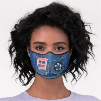 Cute 'Safety Upgrade -Denim Look' Premium Face Mask