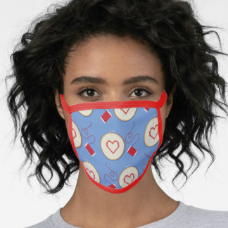Cute Sewing Heart Cross Stitch Face Mask