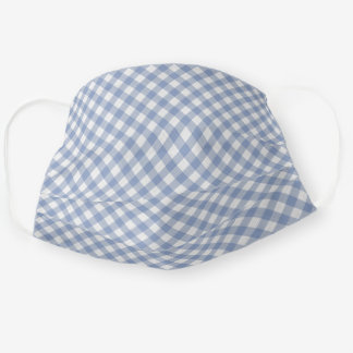 Cute Shabby Chic Vintage Blue White Gingham Cloth Face Mask