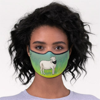 "Cute Sheep ""Masks Save Lives"" Premium Face Mask"