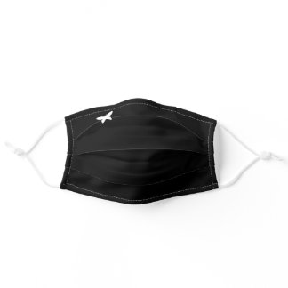 Cute Small Butterfly Plain Solid Black Minimalist Adult Cloth Face Mask