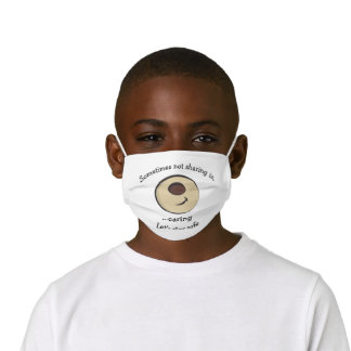 Cute Smiling Brown Bear Face Mask for Kids