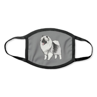 Cute Smiling Keeshond Dog | Keesie Lover's Face Mask