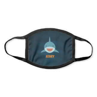 Cute Smiling Shark Personalized Face Mask