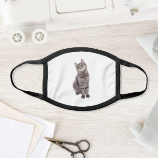 Cute Tabby Cat Face Mask