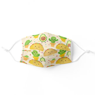 Cute Taco Fiesta Adult Cloth Face Mask
