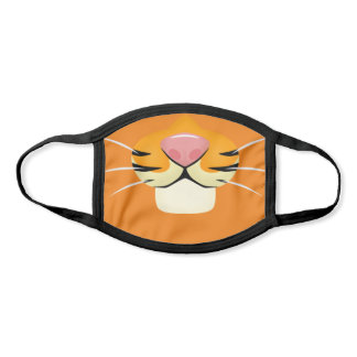 Cute Tiger Face Cartoon Style for Kids Face Mask