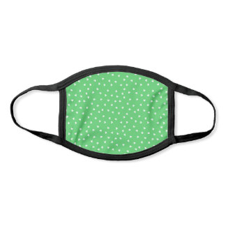 Cute Trendy White Heart Pattern on Chateau Green Face Mask