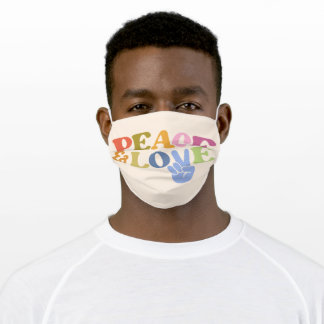 Cute Vintage Love Peace And Love Face Mask