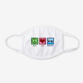 Cute Water Polo White Cotton Face Mask