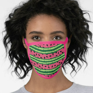 Cute Watermelon Pattern Pink & Green Face Mask