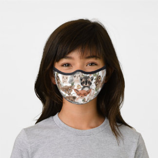 Cute Woodland Forest Animals Premium Face Mask