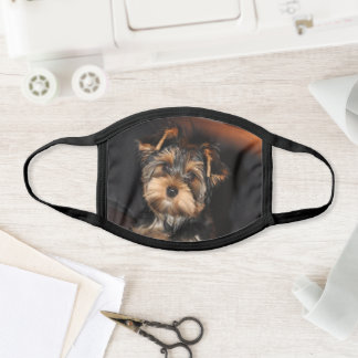 Cute Yorkshire Terrier Yorkie Puppy Dog Face Mask