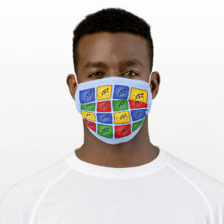 Cyclist four colors sporty pattern cloth face mask