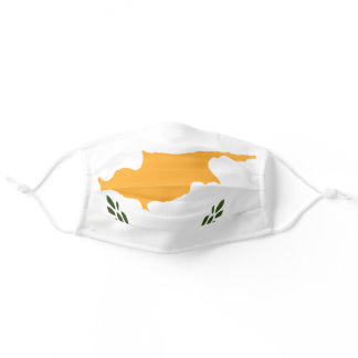 Cypriot flag adult cloth face mask