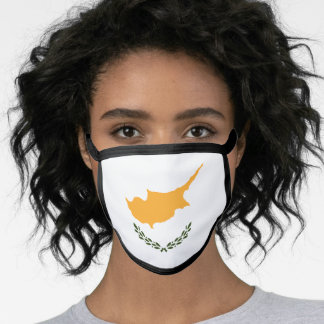 Cypriot flag face mask
