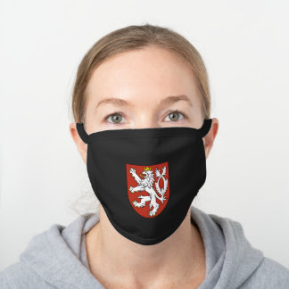 Czech emblem black cotton face mask