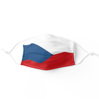 Czech flag adult cloth face mask