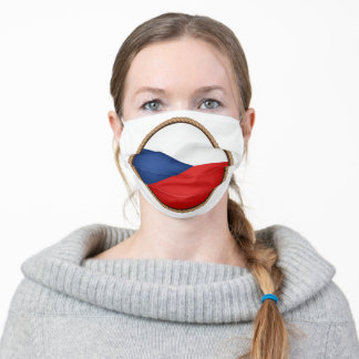 Czech Flag Seal Adult Cloth Face Mask