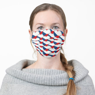 Czech Hearts & Czechia Flag Adult Cloth Face Mask