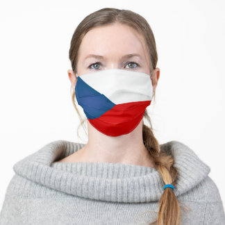 Czech Republic Flag Adult Cloth Face Mask