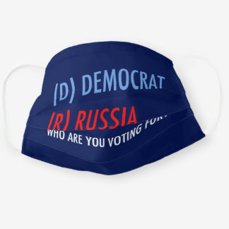D is for Democrat Cloth Face Mask