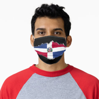 D. Republic  Flag | Faux Torn Out Look Adult Cloth Adult Cloth Face Mask