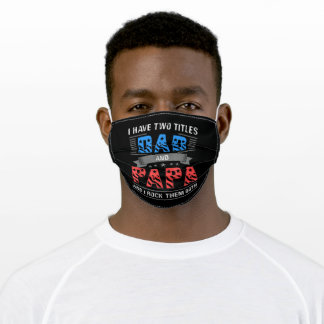 Dad and Papa Cool Father's Day Adult Cloth Face Mask