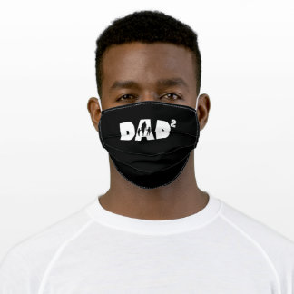 Dad High 2 Father Father Day Dad With 2 Kids Adult Cloth Face Mask