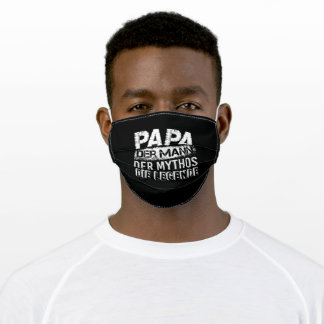 Dad Man Myth Legend Father Father's Day Adult Cloth Face Mask