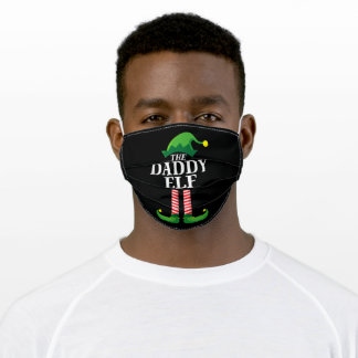 Daddy Elf Matching Family Christmas Adult Cloth Face Mask