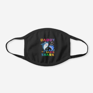 Daddy Of The Baby Shark gift  Birthday Daddy Sh Black Cotton Face Mask