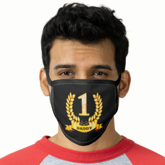 """Daddy's Number 1 - 7.25"""" Large Face Mask"""
