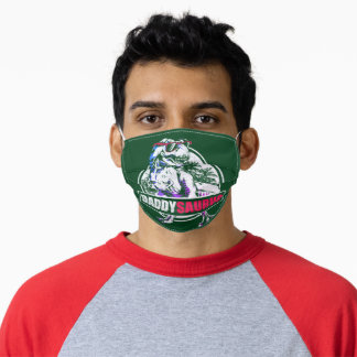 DaddySaurus T-rex Dinosaur Funny Fathers Day Adult Cloth Face Mask