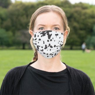 Dalmatian Animal Print Adult Cloth Face Mask