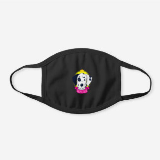 Dalmatian Lovers | The King Dalmatian Owner Gift Black Cotton Face Mask