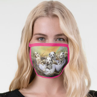 Dalmatian Puppies Prayers Can Come True Face Mask