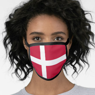 Danish flag face mask