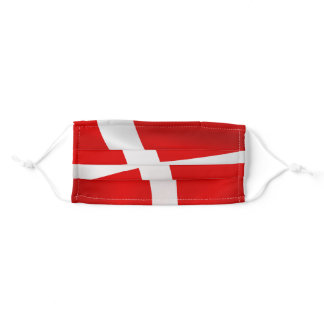 Dannebrog - The Danish Flag Adult Cloth Face Mask