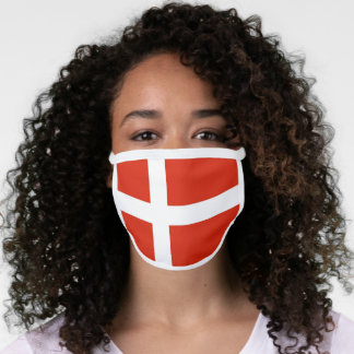 Dannebrog; The Official Flag of Denmark Face Mask