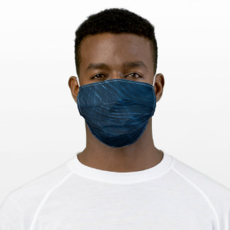 Dark Blue Abstract Pattern Adult Cloth Face Mask