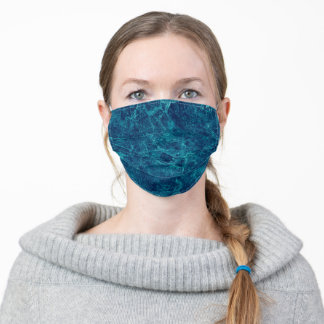 Dark blue marble texture adult cloth face mask
