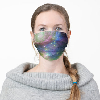 Dark Blue Outer Space Stars Galaxy Adult Cloth Face Mask