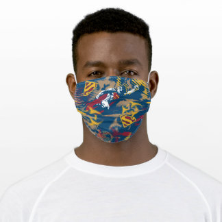 Dark Blue Pattern Adult Cloth Face Mask