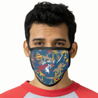 Dark Blue Pattern Face Mask