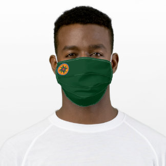 Dark Emerald Green with Clann Bhride Small Logo Adult Cloth Face Mask